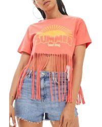 TOPSHOP - Summer Feelings T-shirt - Lyst