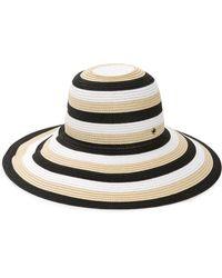 366a3605c78f3 Kate Spade - Hey Sunshine Stripe Sun Hat - Lyst