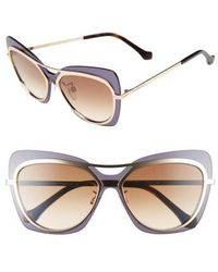 Balenciaga | 57mm Layered Butterfly Sunglasses | Lyst