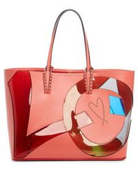 9e4081ded07 Christian Louboutin - Cabata Paris Embellished Calfskin Tote - - Lyst