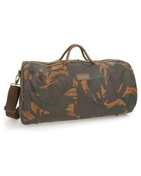 Barbour - 'glenn' Waxed Canvas Duffel Bag - Lyst