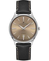 Hamilton - Jazzmaster Thinline Automatic Leather Strap Watch - Lyst