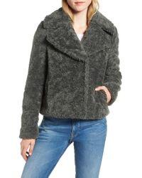 Kensie - Faux Shearling Moto Jacket - Lyst