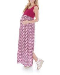Everly Grey - 'maisie' Maternity Maxi Dress - Lyst