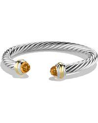 David Yurman Cable Classics Bracelet With Semiprecious Stones & 14k Gold