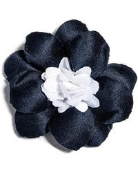 Hook + Albert - Jasper Satin Lapel Flower - Lyst