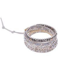 Nakamol - Crystal & Imitation Pearl Beaded Wrap Bracelet - Lyst