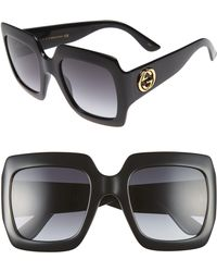 Gucci - 54mm Square Sunglasses - - Lyst