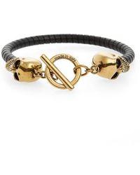 Alexander McQueen - T-bar Skull Bracelet - Lyst