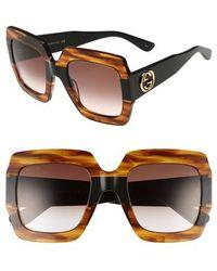 Gucci - 54mm Square Sunglasses - - Lyst