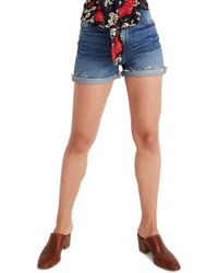 6f6502f48dc4 Madewell Perfect Daisy Embroidered High Waist Denim Shorts in Blue ...