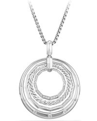 David Yurman - Stax Medium Pendant Necklace With Diamonds - Lyst