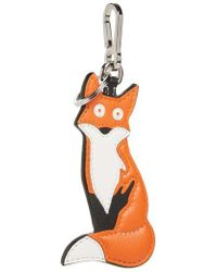 Loewe - Fox Leather Charm Key Ring - Lyst