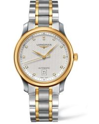 Longines - Master Automatic Diamond Bracelet Watch - Lyst