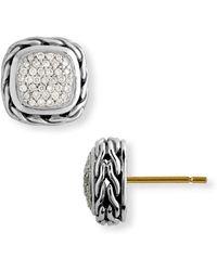 ccbbd1f4c Lyst - John Hardy Chain Classic Hammered Chandelier Earrings in Metallic