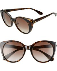 f9ee7cb34d2 Gucci - 54mm Cat Eye Sunglasses - Dark Havana  Brown Gradient - Lyst