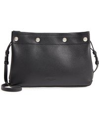 47d7643c4df7 Lyst - Rag   Bone Aston Mini Leather Crossbody Bag in Black