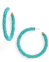 1b517ea3d TOPSHOP Seed Bead Tassel Earrings in Red - Lyst