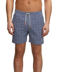 4f7eebe25bf3c Psycho Bunny - Volly Print Swim Trunks - Lyst