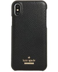 Kate Spade - Pebbled Leather Iphone X Case - - Lyst