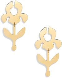 Lele Sadoughi - Iris Stem Drop Earrings - Lyst