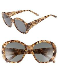 Elizabeth and James - Kay 54mm Round Sunglasses - Amber/ Green - Lyst