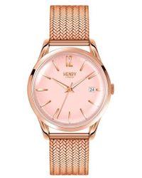Henry London - Shoreditch Mesh Strap Watch - Lyst