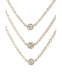 EF Collection - Diamond Triple Bezel Layered Necklace - Lyst