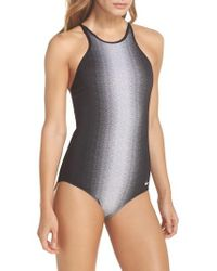 Nike - Adjustable High Neck One-piece Swimsuit - Lyst