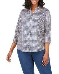 Foxcroft - Mary Shadow Dot Print Shirt - Lyst