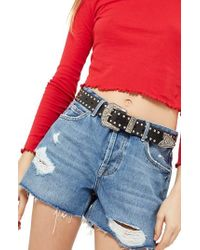 TOPSHOP | Ashley Ripped Boyfriend Shorts | Lyst