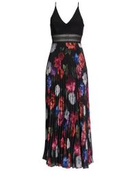 Xscape - Floral Pleated Gown - Lyst