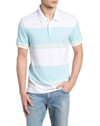 Original Penguin - Engineered Rugby Stripe Polo - Lyst