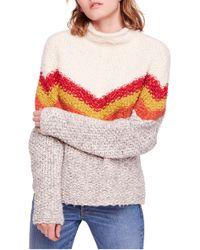 Free People - Turn Around Tunic Sweater - Lyst