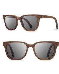 Shwood | 'prescott' 52mm Wood Sunglasses - Walnut/ Grey | Lyst