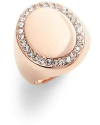 Vince Camuto - Pave Oval Signet Ring - Lyst