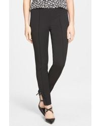 Vince Camuto | Side Zip Stretch Twill Pants | Lyst