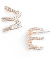 Nadri - Multi Hoop Cubic Zirconia Earrings - Lyst