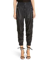 Isabel Marant - Coated Crop Jogger Pants - Lyst