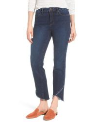 NYDJ - Sheri Crisscross Hem Slim Ankle Jeans - Lyst
