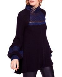 Free People - Snow Day Balloon Sleeve Sweater - Lyst