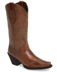Ariat | Round Up D-toe Wingtip Western Boot | Lyst