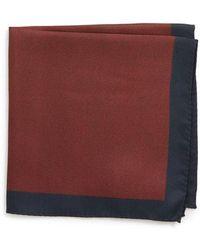 BOSS - X Nordstrom Solid Silk Pocket Square - Lyst