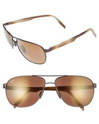 Maui Jim - 'castles - Polarizedplus2' 61mm Aviator Sunglasses - Lyst