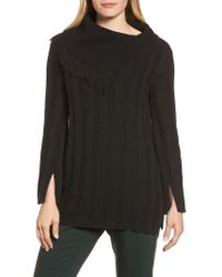 Chaus - Fringe Cowl Neck Sweater - Lyst