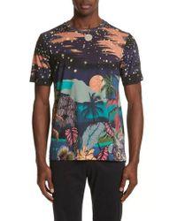 Paul Smith - Palm Tree Print T-shirt - Lyst