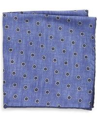 Canali - Floral Silk Pocket Square - Lyst