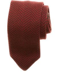 Hook + Albert - Herringbone Knit Wool Tie - Lyst