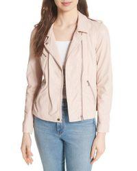 Rebecca Taylor - Leather Moto Jacket - Lyst