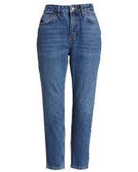 TOPSHOP - Mid Denim Mom Jeans - Lyst
